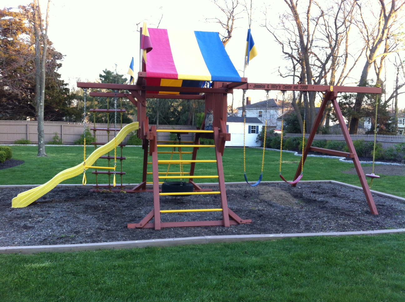 Redwood Swing Set 2013