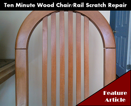 Scratch Repair - Wood Chairs and Rails