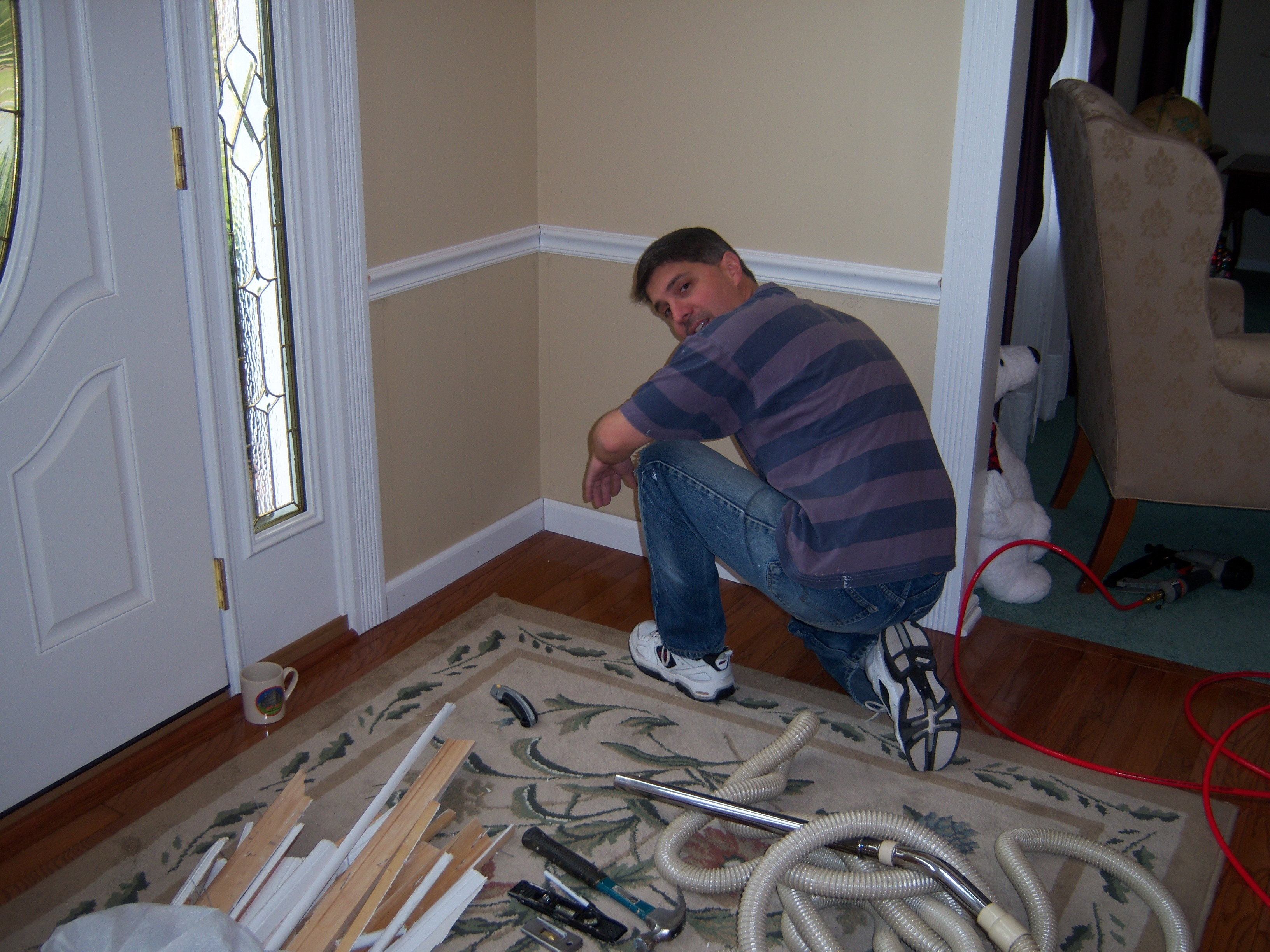 Installing Chair Rail And Base Moldings