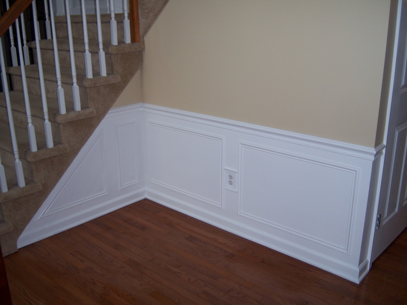 Hall and Stairway Trim Work Low Maintenance Shadow Boxes All