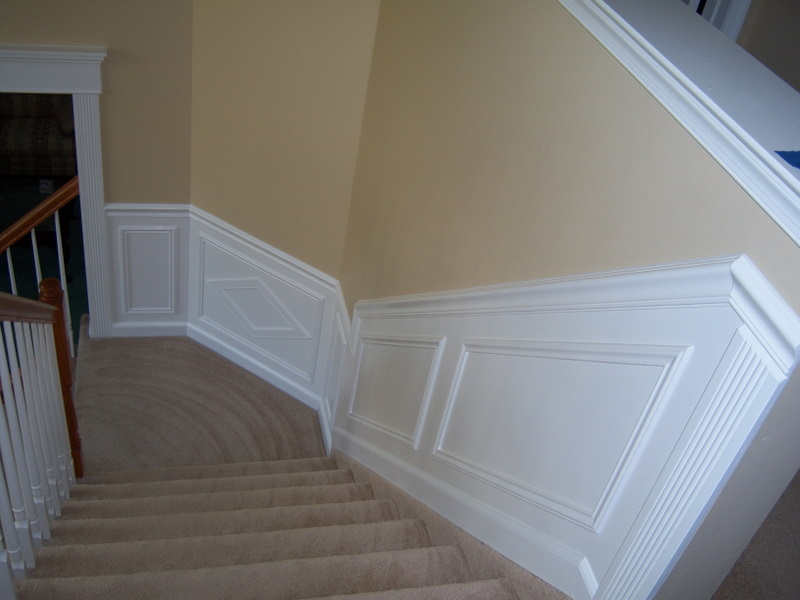 Hall And Stairway Trim Work - Low Maintenance Shadow Boxes - All