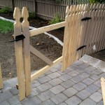 Building a Removable Wood Fence Section and Gate