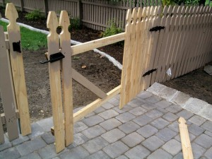 Further Cedar Fence Gate Construction - Hinge and Latch Hardware