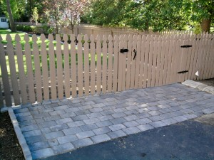 Painting the Removable Fence Section and Gate - Finishing Touches