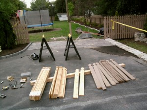 More Preparation for Removable Fence Section Construction