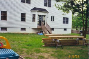 Deck Construction Photo 1 - Lumber Delivery