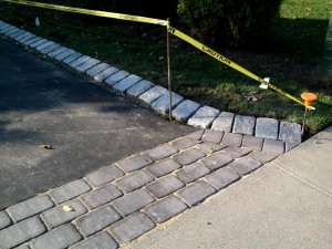 Bottom Paver Apron Preparation