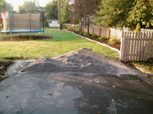 Top Paver Apron Preparation