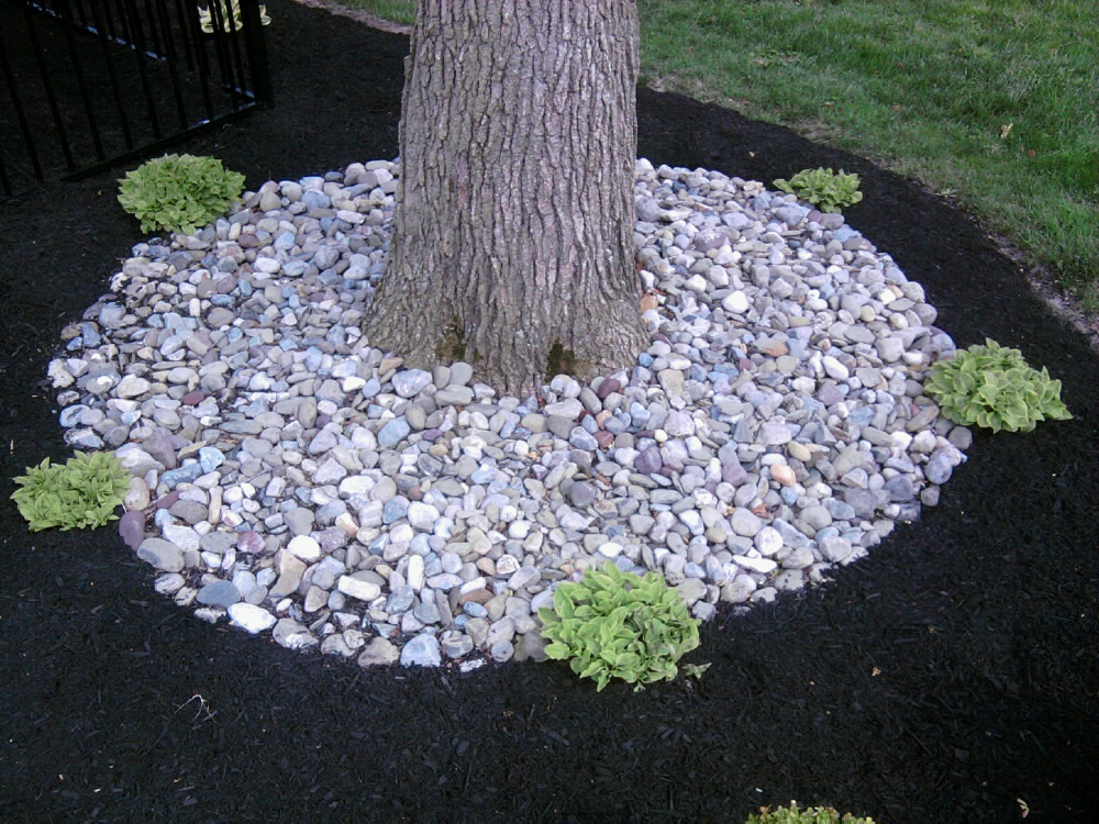 River stone landscaping ideas images for River rock landscaping