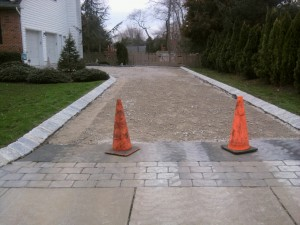 Asphalt Gravel Base and Paver Apron