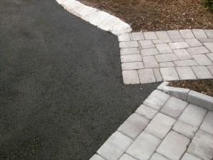Asphalt by Pavers and Belgian Block