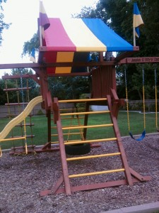 Redwood Swing Set - New Ladder