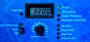 Chlorine Generator Control Panel