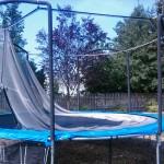 Repairing a Backyard Trampoline
