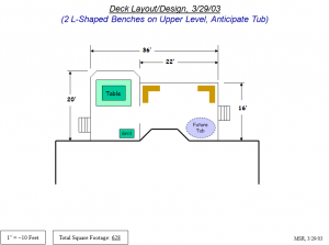Backyard Deck Design Sketch 2