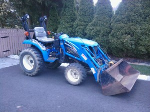 Mini Bulldozer for  Landscape Mulch Application