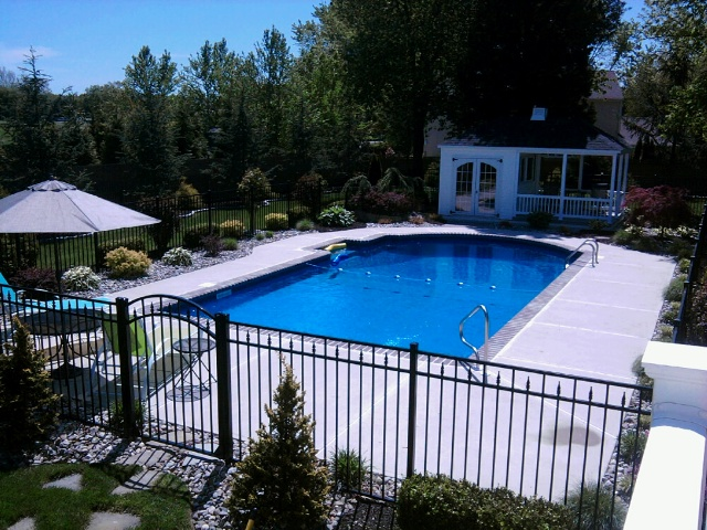 Summer snapshots from the jersey shore all about the house for Inground pool landscaping designs