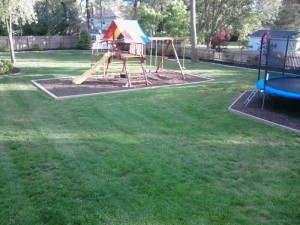 Backyard Surface Water Runoff Topsoil Remediation