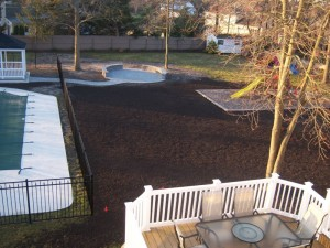 Property Grading with Topsoil to Address Surface Water Runoff