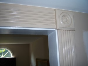 Fluted Casing and Rosette After Finishing