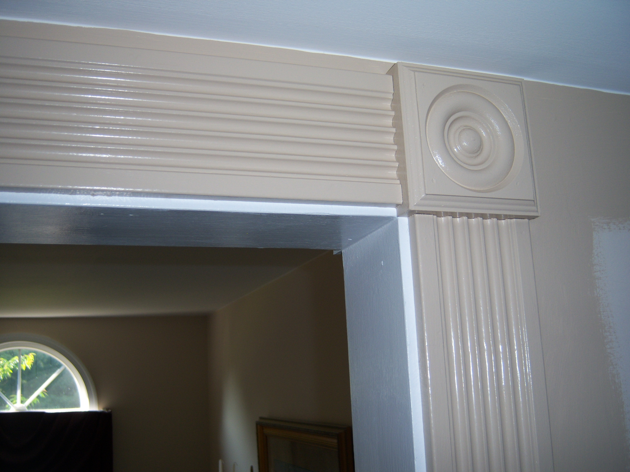 Fluted Casing and Rosette After Finishing & Dressing Up an Archway with Fluted Casing and Rosettes - All About ...