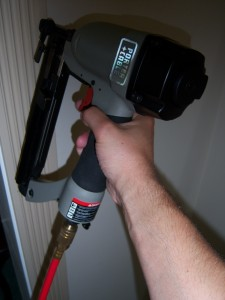 Nail Gun with Fluted Casing