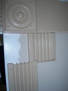 Splicing Fluted Casing - Rosette in Corner