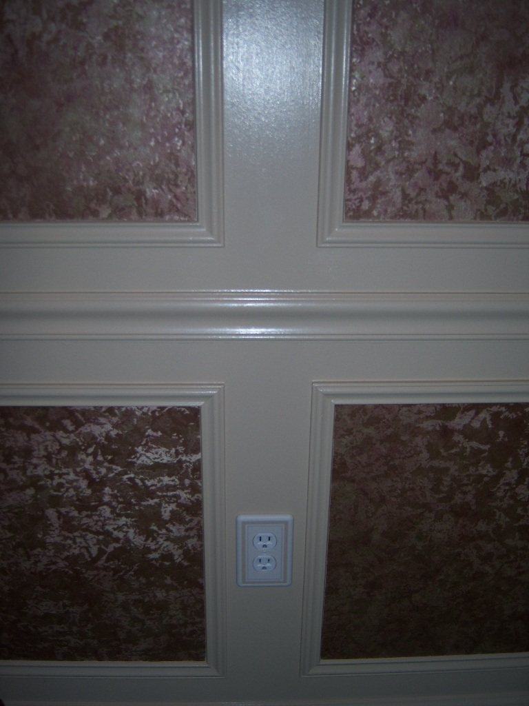 Dining room trim work ideas centered outlet cover all for Dining room trim ideas