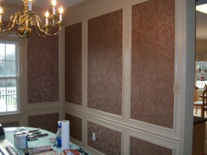 Dining Work Trim Work Design with Wall Paper Finish