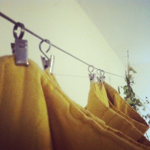 Hanging Custom Curtains with Alligator Clips