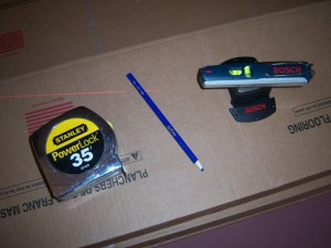 Laser and Tape Measure