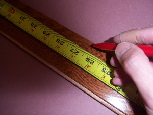 Cutting the Hardwood Planks