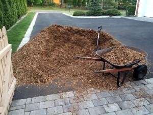 Fiber Mulch for Play Set Base