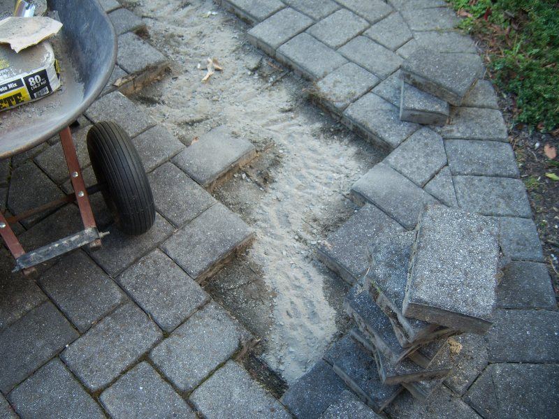 my collapsing paver walkway - all about the house