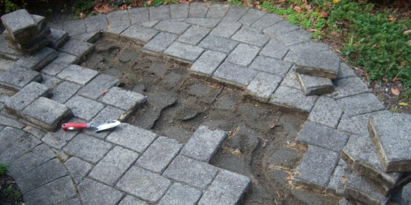 My Collapsing Paver Walkway