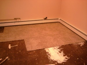 Carpet Tiles Covering the Room