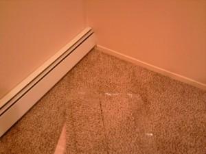 Carpet Tiles in the Baseboard Corner