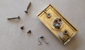 Original Doorbell Button Corroded Parts