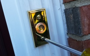 Secure Electronic Door Chime Doorbell Button to Casing
