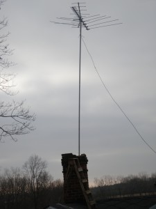 Radio Mast with Antenna