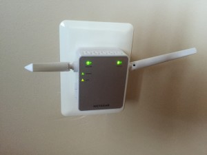 WiFi Extender Plugged into Electrical Outlet