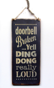 Broken Doorbell Sign