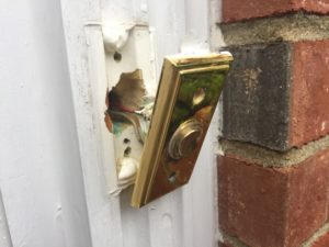 Removing the Damaged Doorbell Button