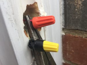 Wire Nuts on the Old Doorbell Wires