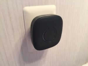 Wireless Door Chime Mounted in Outlet