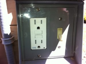 Exterior Pool Switch and GFCI GFI Outlet