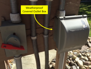 Weatherproof Covered Outlet Box for GFCI Outlet and Pool Light Switch