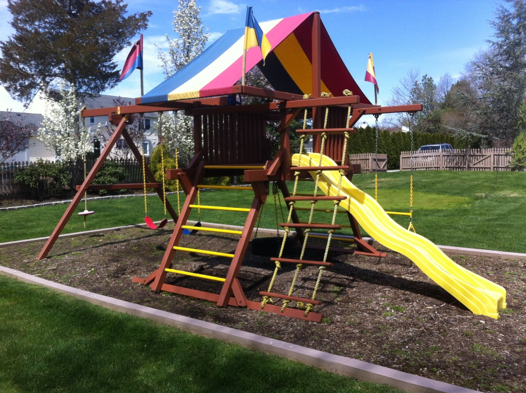 denverfixit tuesday set rainbow system costco assemblies play prices june stain swingsets fixit com and staining installations sand bak swing denver sunray