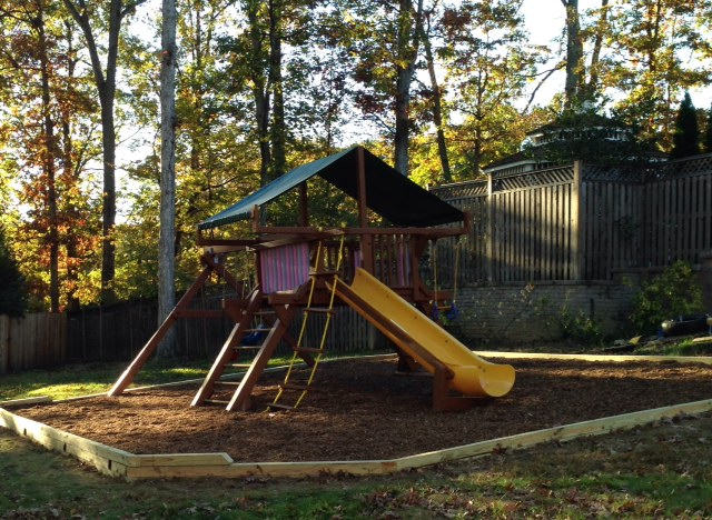 To rehab a redwood swing set all about the house for Swing set frame only