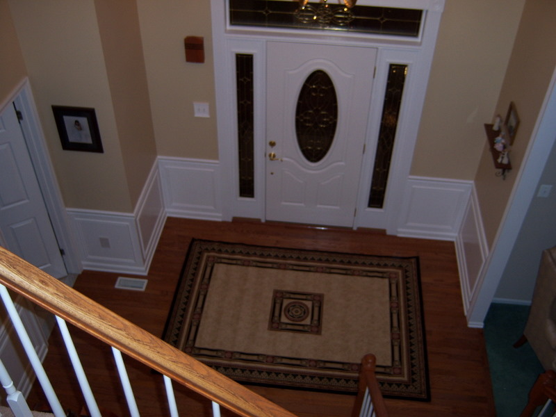 Chair Rail Orientation Part - 48: Hall And Stairway Trim Work - Low Maintenance Shadow Boxes - All About The  House